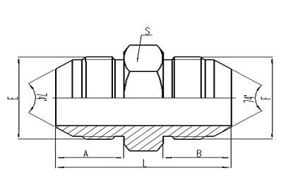 美制JIC螺紋74°錐面密封過渡接頭