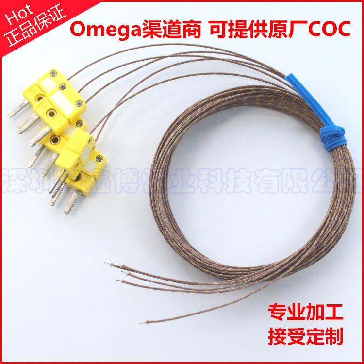 GG-K-30热电偶线+SMPW-K-M高温热电偶公插+热电偶测温焊点