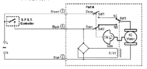 vn开关型风机盘管电动阀-vn6013系列接线图图片