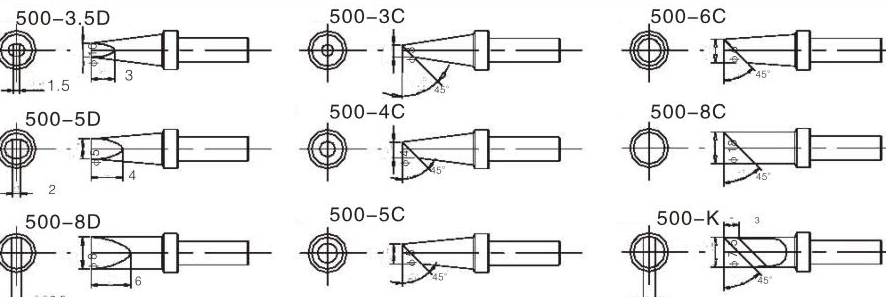1.高频涡流加热,升温及回温速度快,实现无铅焊接。 2.微电脑控制,按键式调温,数字式温度校准,并设有自动休眠及自动关机功能。 3.150W大功率,常规蕞大可选用8mm的焊嘴。 4.密码式温度锁定功能,有效保障生产工艺。 5.发热芯插拔式设计,维护更便捷,并有多款烙铁头可供选择。