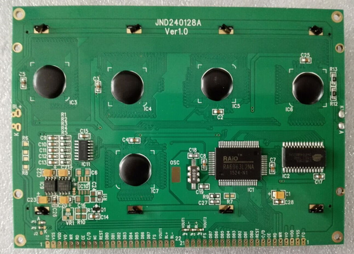 黄底黑字240128液晶显示屏lcd240128液晶模块
