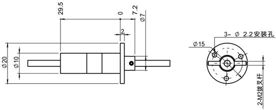 FRSB单通道光纤滑环(光纤旋转接头) FRSB单通道光纤滑环采用10mm的封装尺寸,可以使用FRSA单通道光纤滑环所有适用的工作波长和尾纤封装形式。FRSB单通道光纤滑环收发端均采用光路无胶紧固技术,温度性能更佳。另外该产品与 FRSA的区别还在于采用销钉实现拨叉传动。
