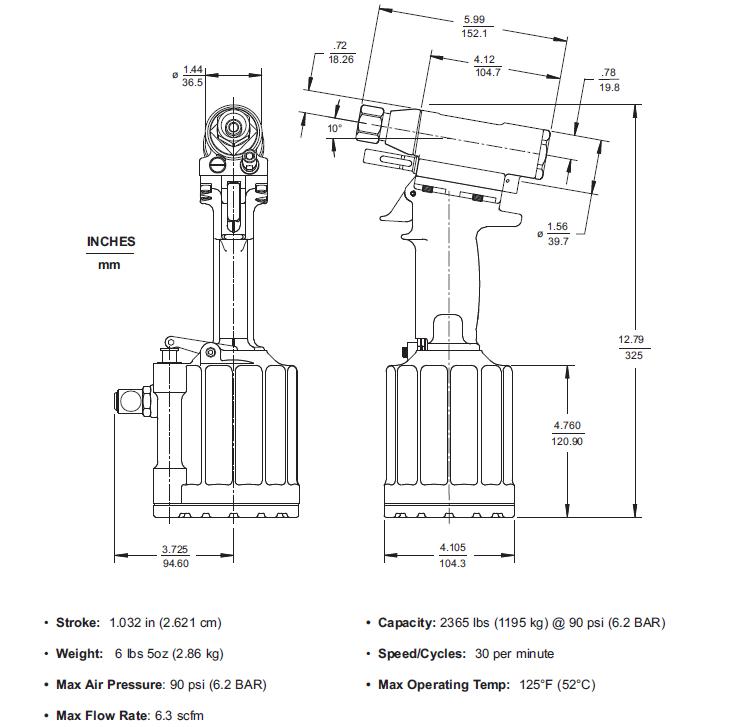 HUCK244BT气动铆钉枪—韦德科技0755-2665 6615