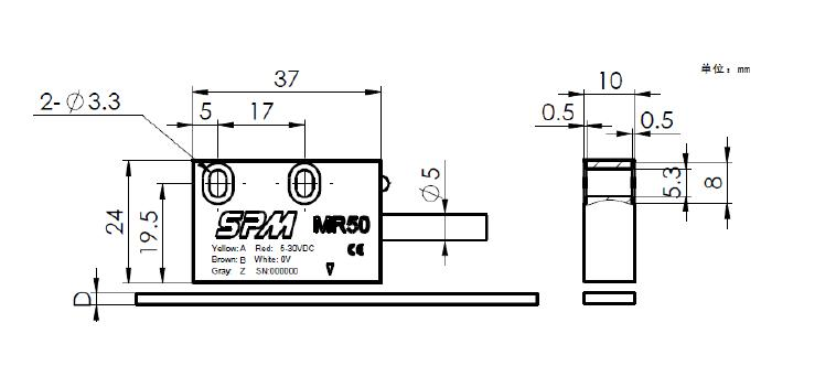 磁栅传感器mr50,mr51,mr52