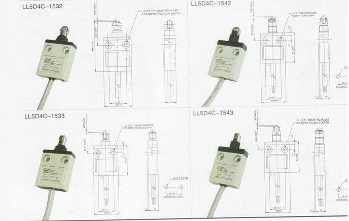 ll5d4c-1520行程开关 行程开关接线图