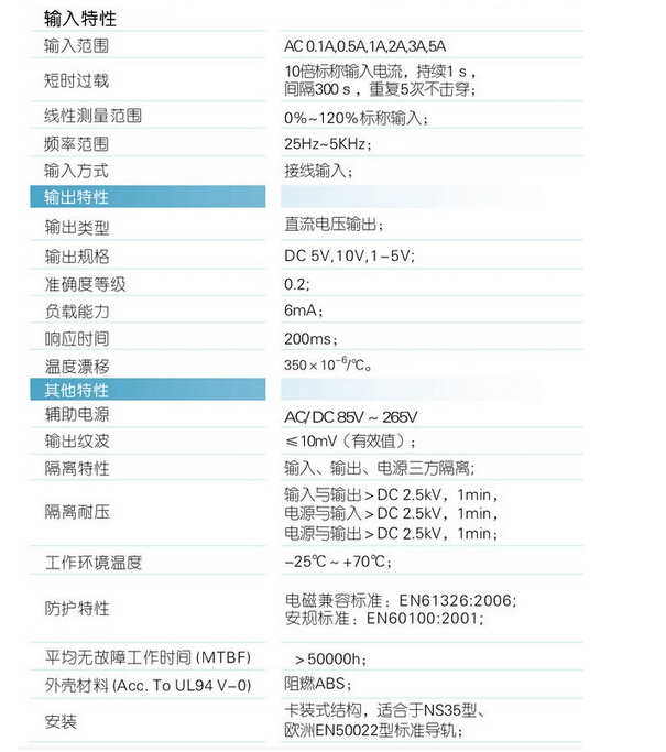 wbi412h29防护型交流电流传感器
