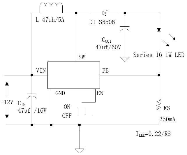 led太阳能路灯电路图