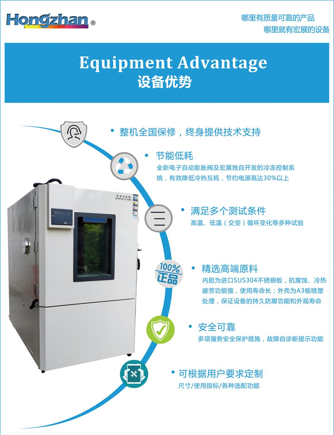高低溫交變試驗箱,高低溫交變箱,高低溫交變實驗箱技術優勢:節能低耗、滿足多個測試條件、零配件精選優異原料、全自動控制與保護協調系統、可根據用戶需求定制等