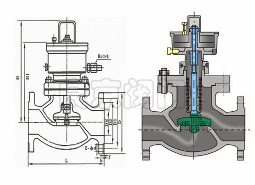 不锈钢气动紧急切断阀-结构图片
