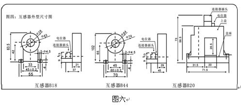 各分支路互感器接在采集模块的信号输入端.