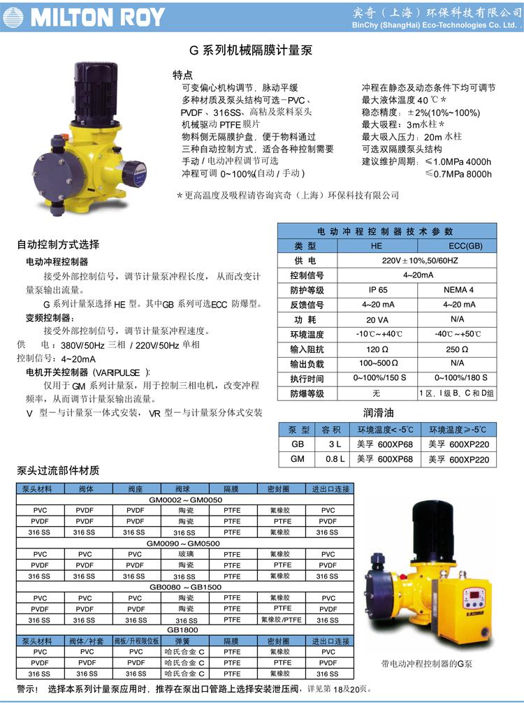 产品目录 米顿罗计量泵 >>>  机械泵系列