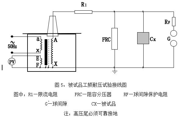 为了准确测量被试品上所施加的电压,因此常在高压侧接入frc阻容分压器