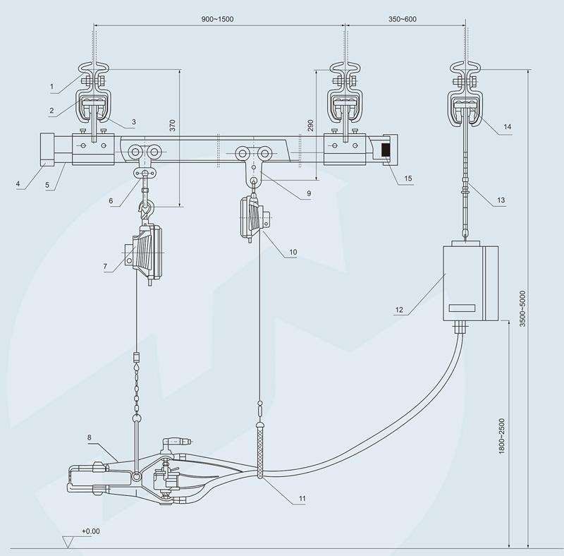 焊装线悬挂系统结构图