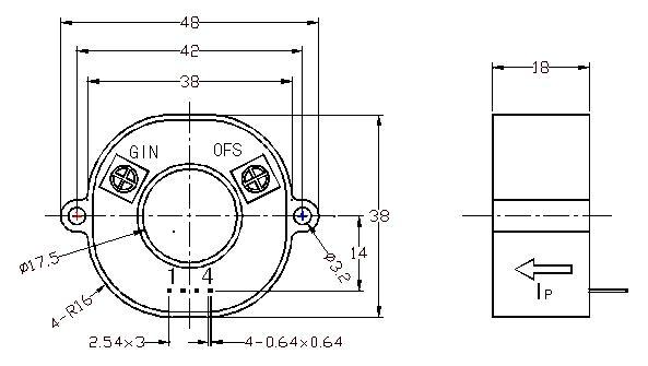 chcs-ed5开环霍尔电流传感器