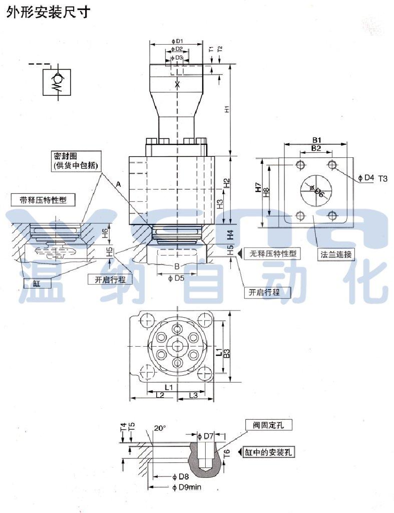 rcf-300,充液阀,无锡温纳厂家     rcf25a1-10,rcf40a1-10,充液阀图片