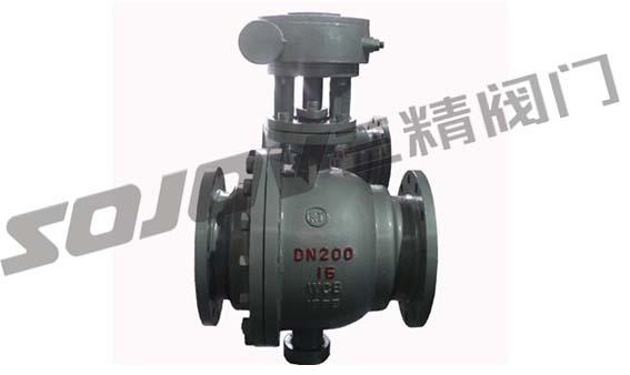 温州Q347F/H碳钢蜗轮固定球阀