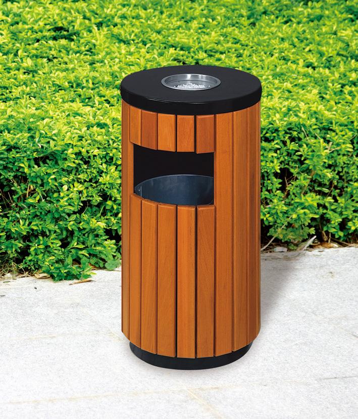 公园圆形垃圾桶