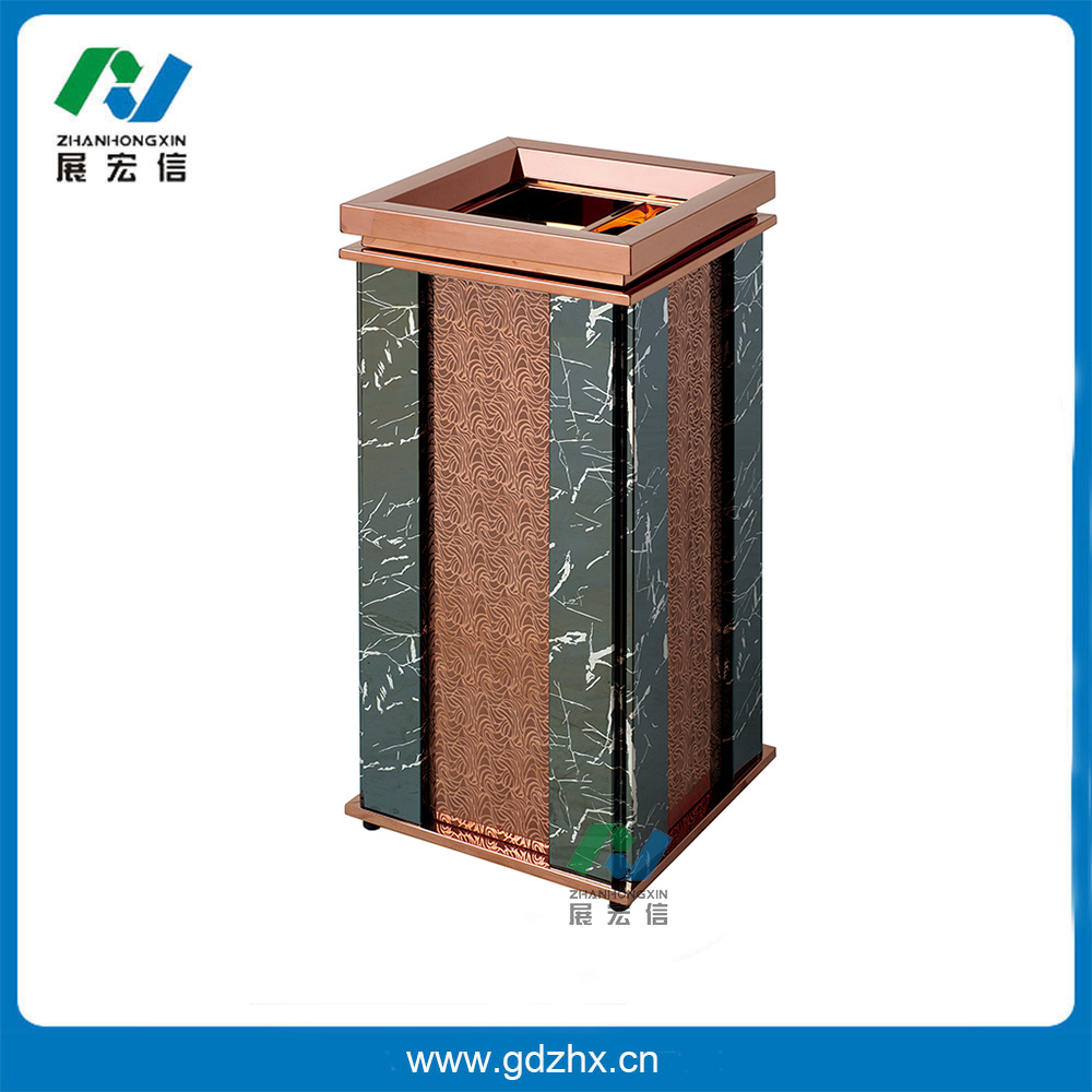 室内环保垃圾桶(玫瑰金,gpx-87cs)
