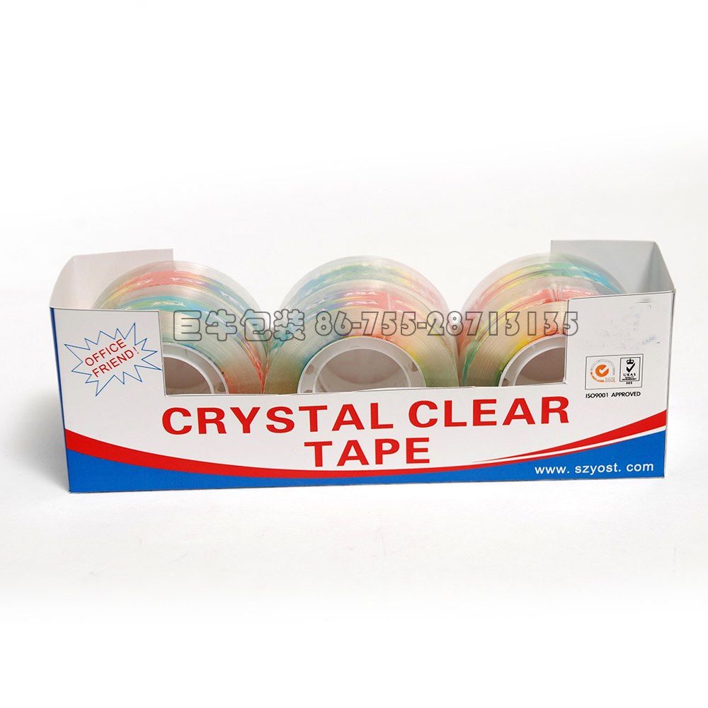 Golden packing crystal clear Never missing price Bopp packing tape