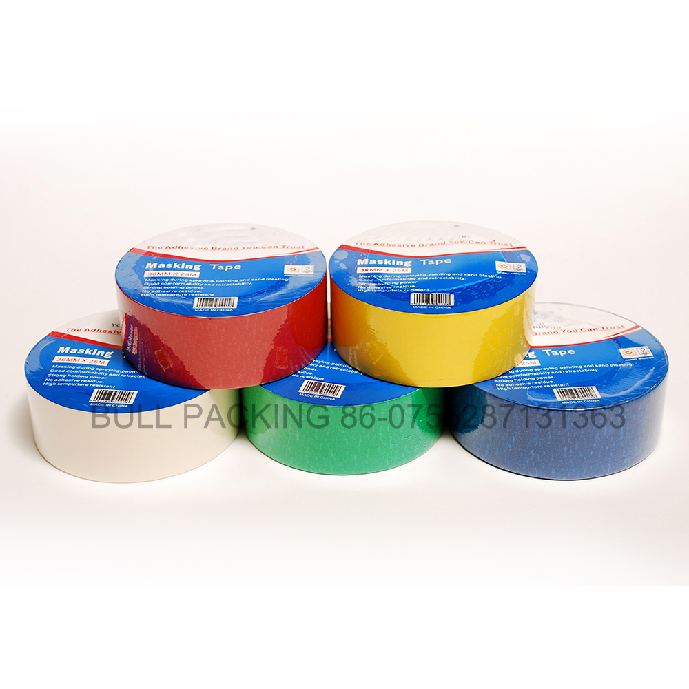 different color high quality masking tape with low price
