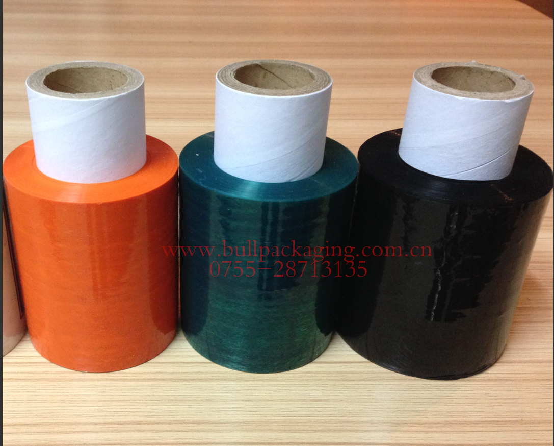 colorful stretch film for packing hand use pallet stretch film