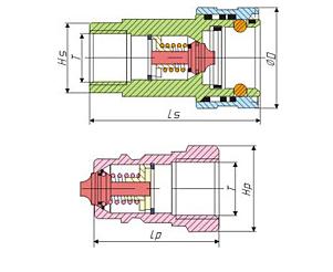 液压快速接头结构和工作原理图片