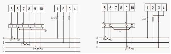 三相无功计量电路图