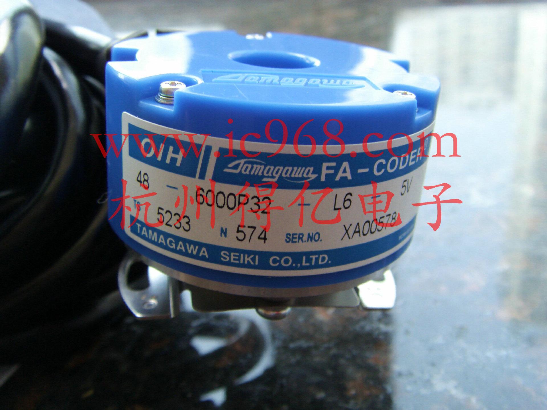 永大常规使用型号 永大电梯、吉亿电机用多摩川编码器TS5233N574; 外径:48mm,内孔:8mm,螺钉紧定,弹片连接; 脉冲:6000;级数:32级;信号输出:长线驱动UVWABZ,带反向信号,电压:DC5V