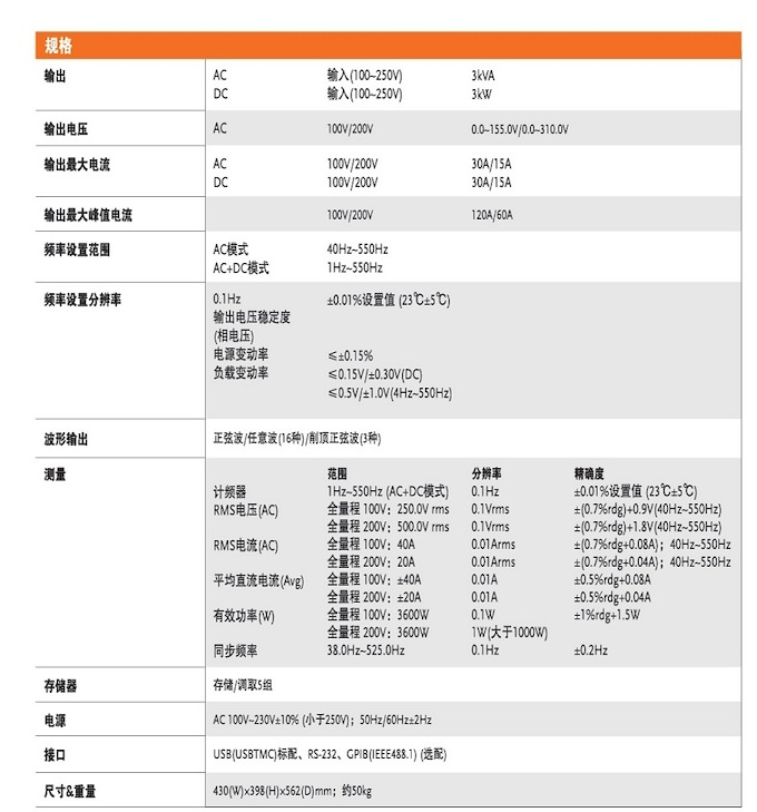 臺灣固緯GKP-2302 可編程交直流電源,AC:0~310V/15A(200V檔位),DC:-440~440V/15A(200V檔位),*大3KVA