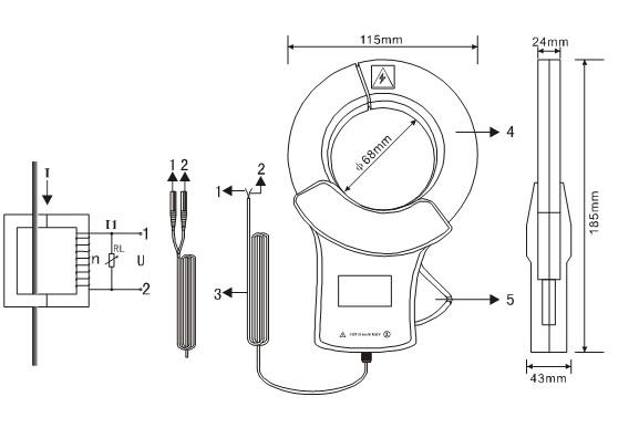 ETCR068C Clamp current sensor