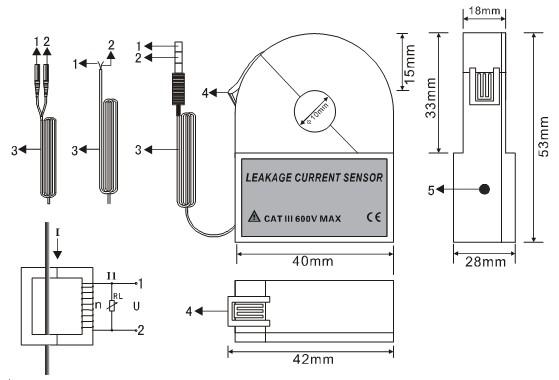 ETCR010K Split Type High Accuracy Leakage Current Sensor