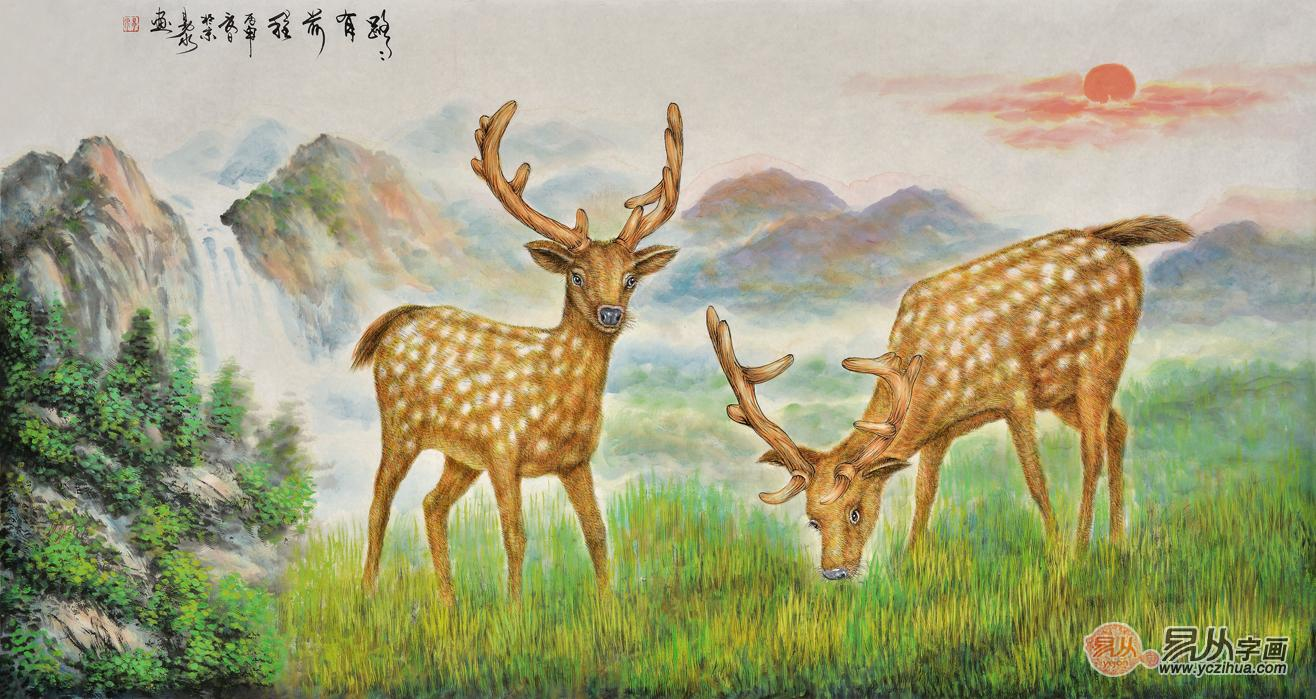 客厅沙发背景墙悬挂字画有什么风水禁忌 高雅动物画打造温馨家居