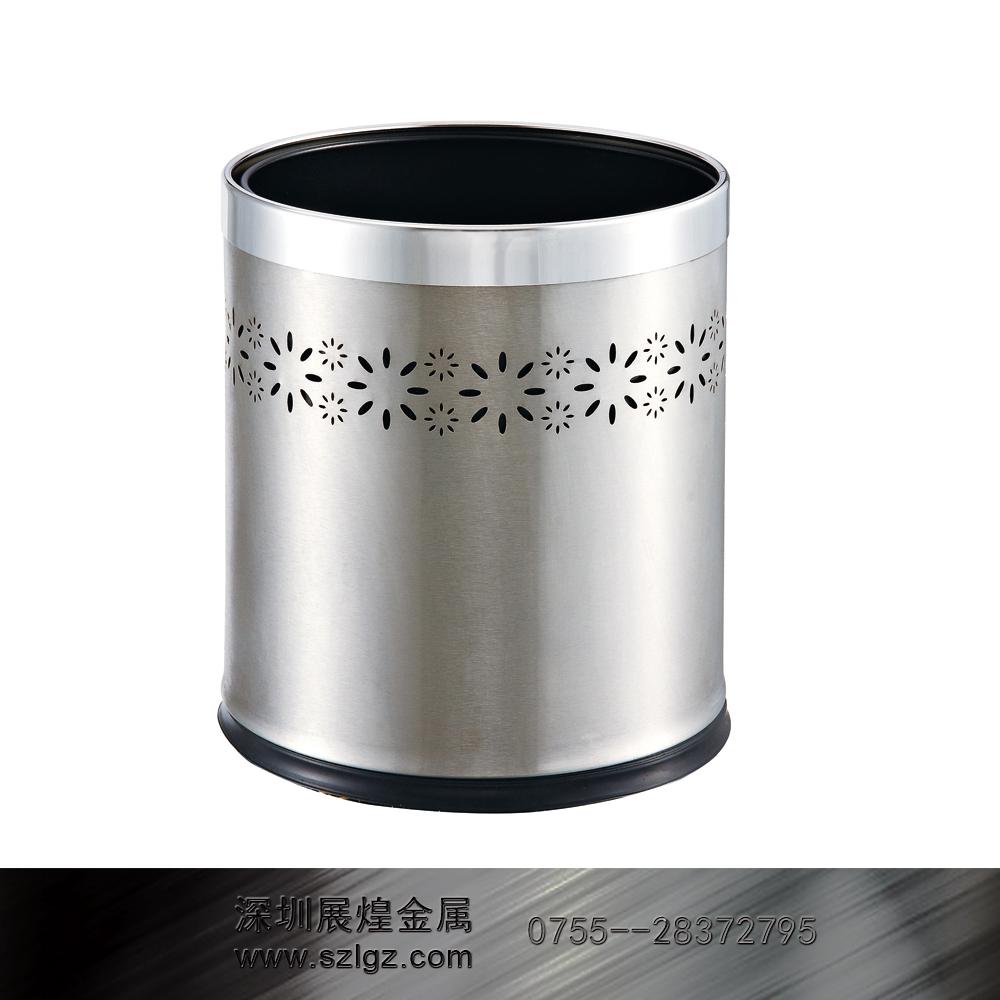 不锈钢双层通花垃圾桶