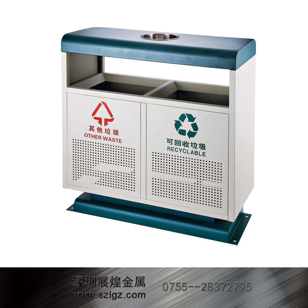 铁烤漆分类环保垃圾桶