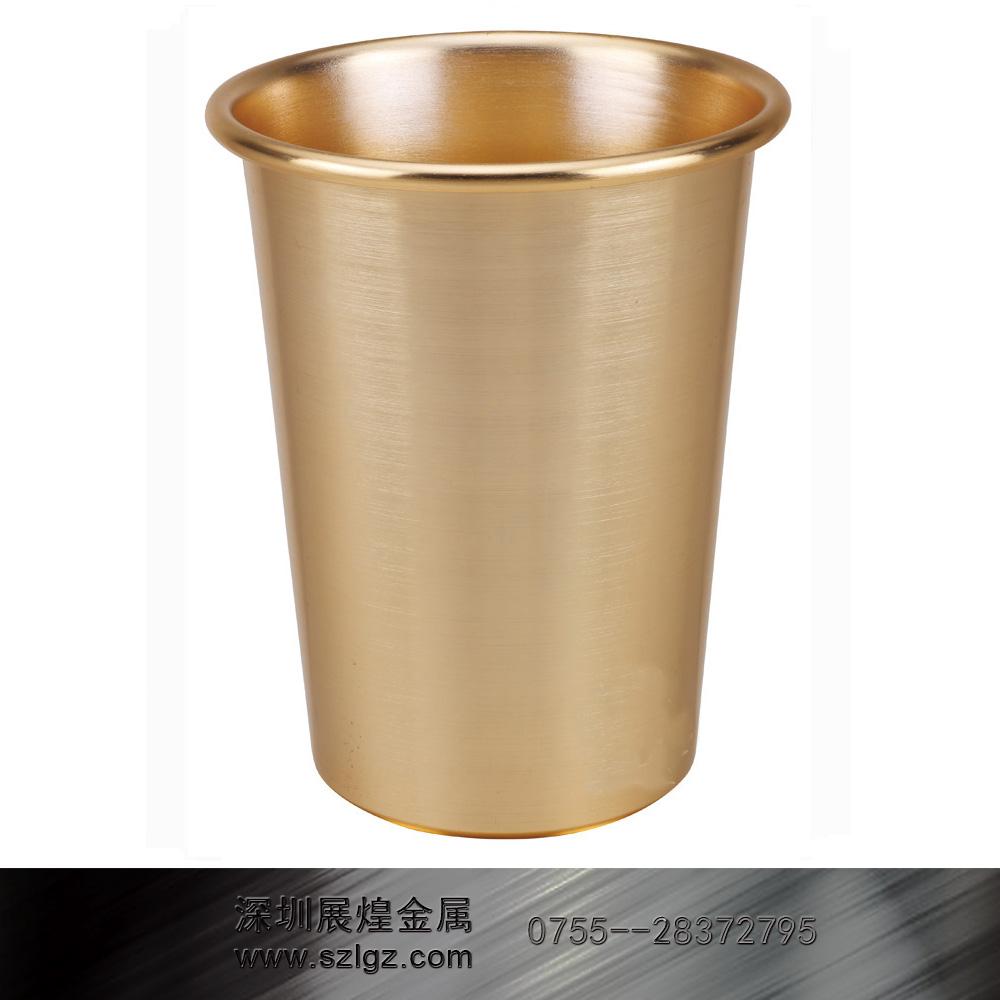 常用的铝合金圆形垃圾桶为单层桶