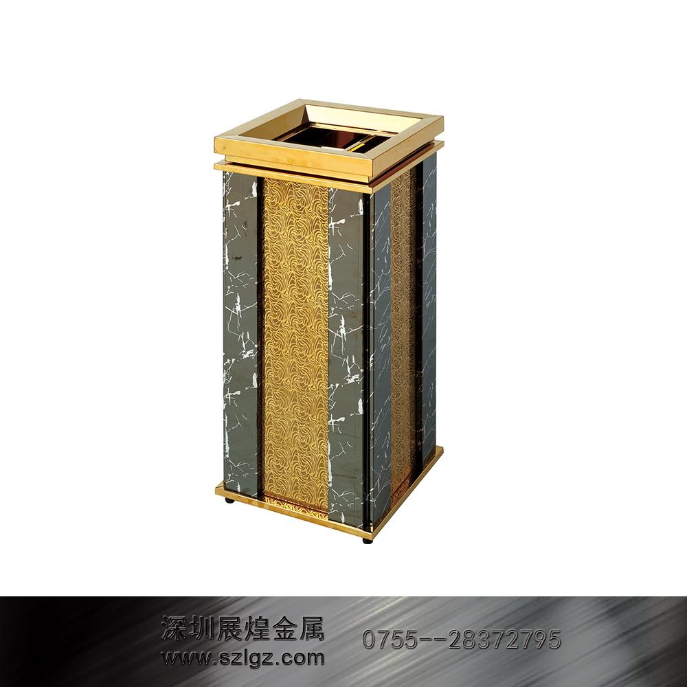 钛金室内环保垃圾桶