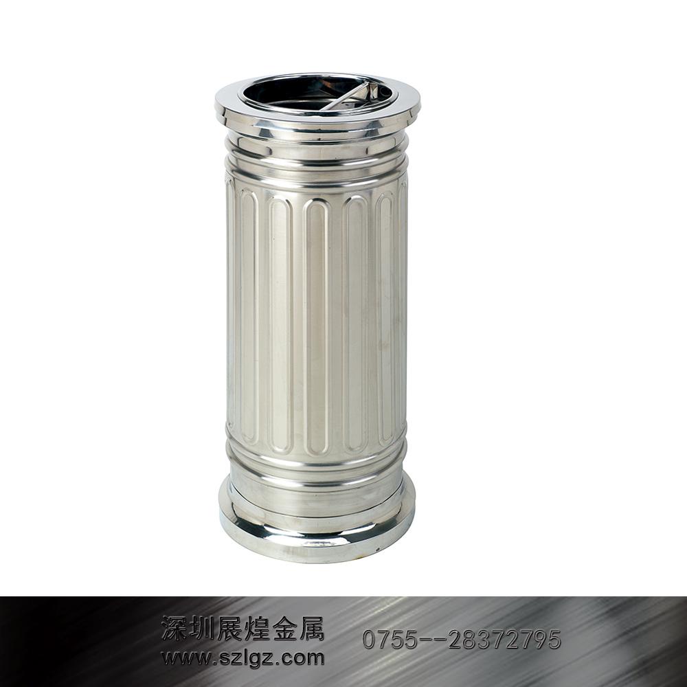 圆形罗马柱垃圾桶 |深圳市展煌金属制品贸易部