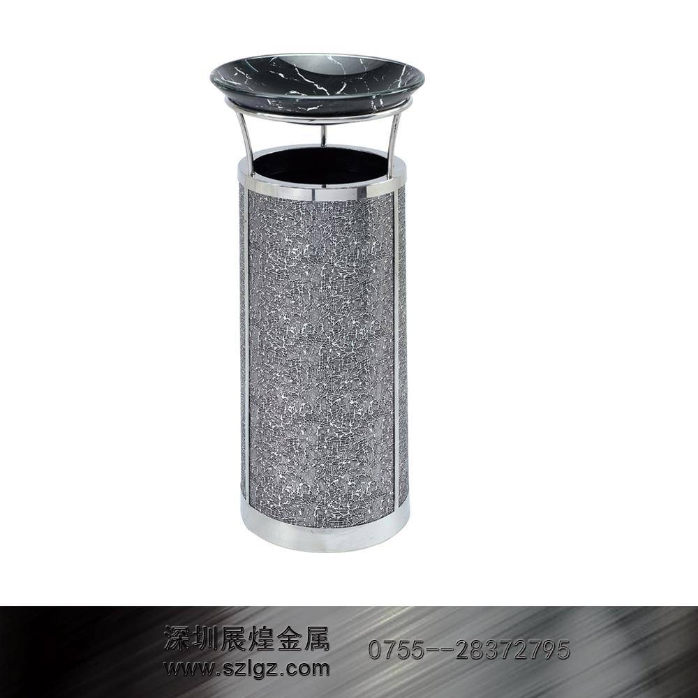 圆形黑白烟灰桶 不锈钢垃圾桶