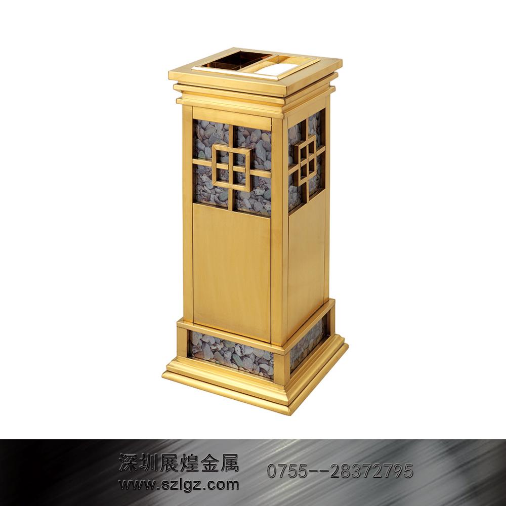 中式钛金烟灰桶 不锈钢垃圾桶