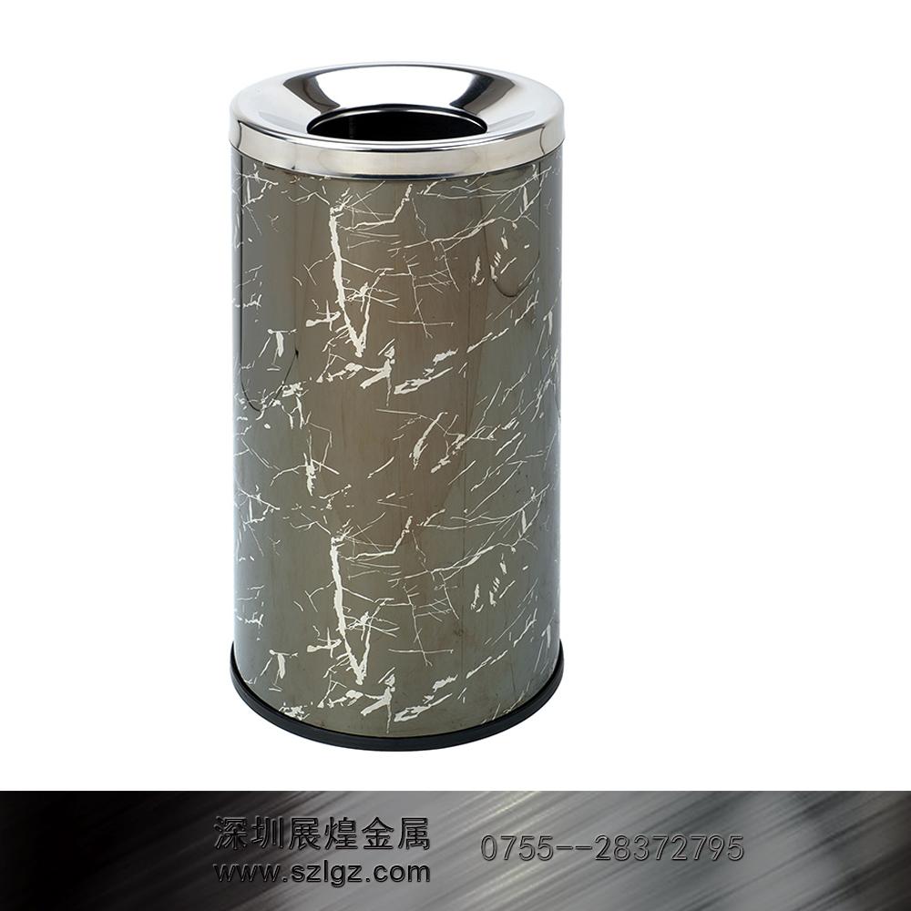 黑白根彩色不锈钢垃圾桶