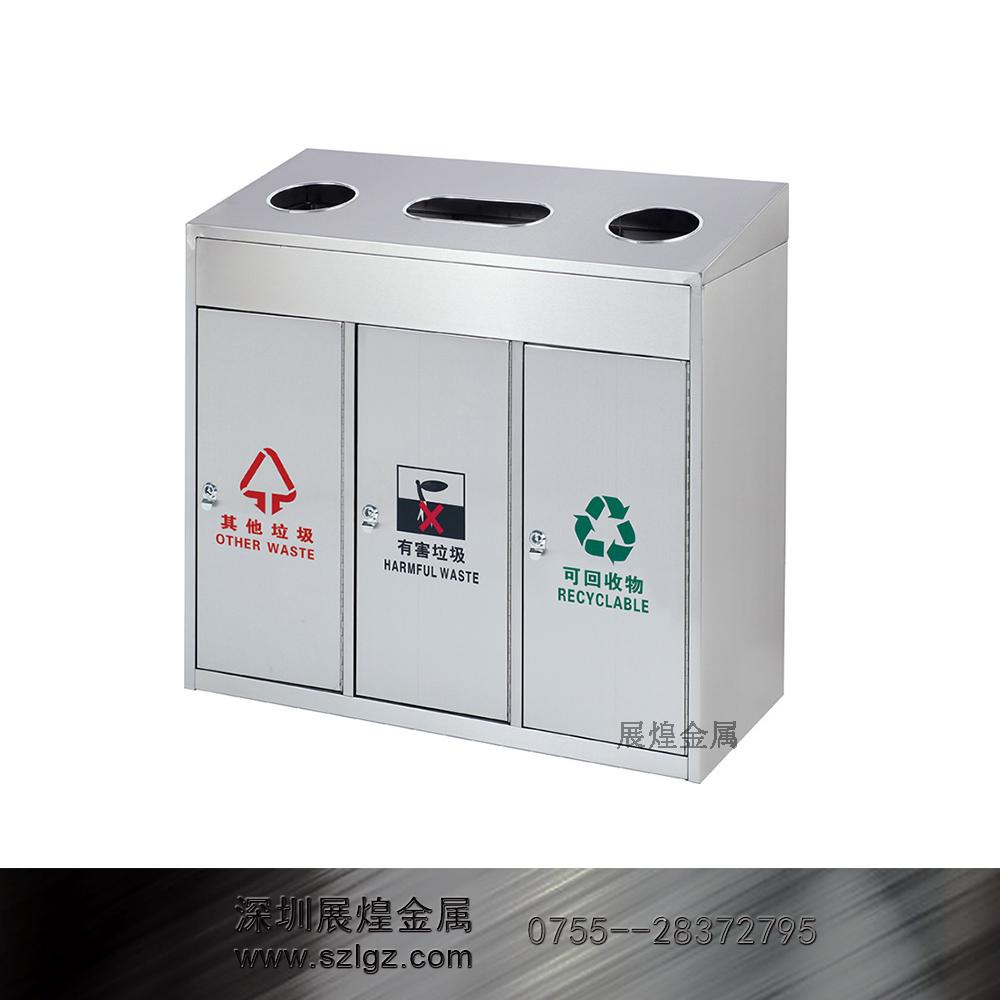 三分类砂钢户外桶 不锈钢垃圾桶 烟灰缸垃圾桶 酒店