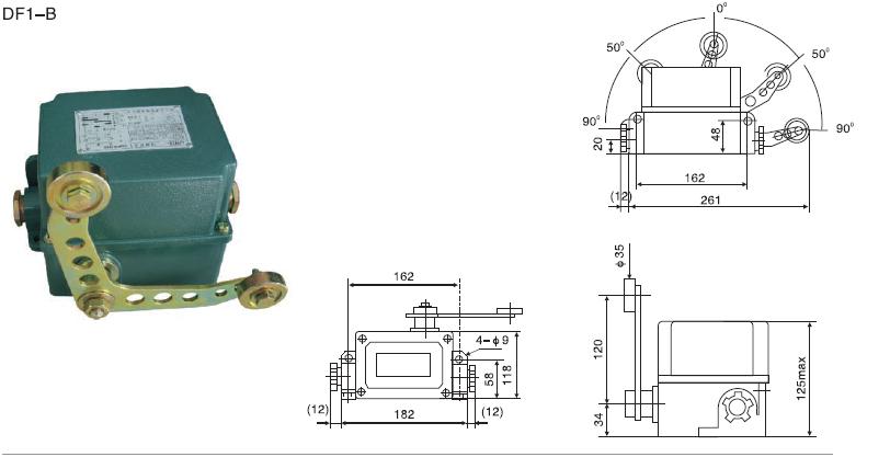 df1-b限位开关适用于交流50hz;额定工作电压至380v,直流额定工作电压