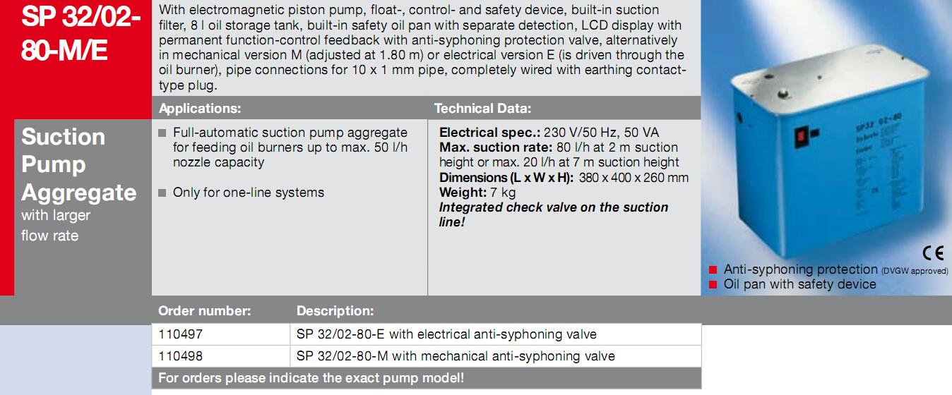 sp32/02-80-m,sp32/02-80-e,eckerle抽吸泵