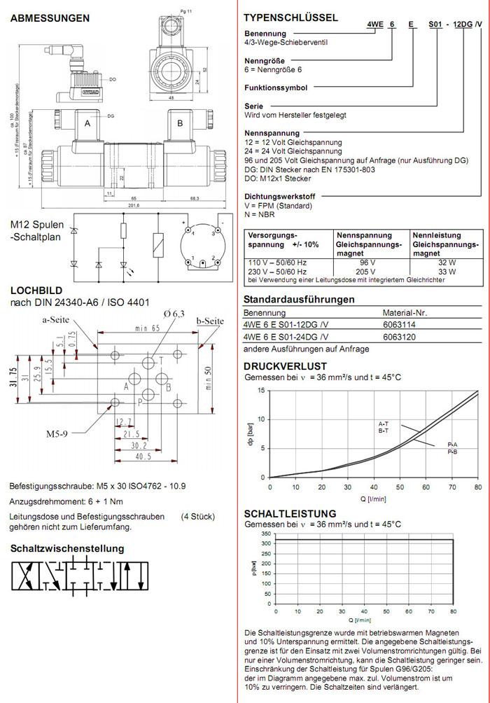 4WE6ES01-12DG/V,4WE6ES01-24DG/V,HYDAC电磁4/3方向滑阀|无锡市昌林 ...