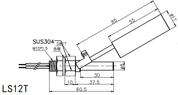 浮球开关220v交流接触器接线图