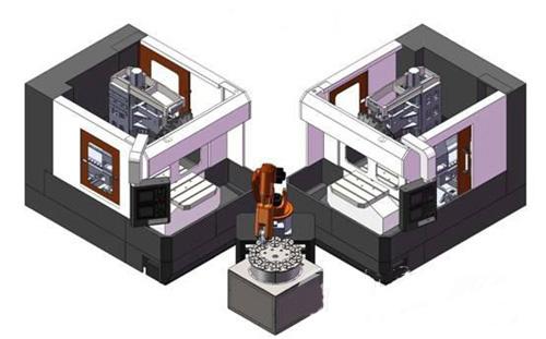 工業機器人與機床組合方案
