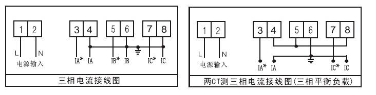 三相电流表接线