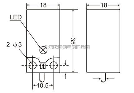 ps17-5dn2接近开关外形结构图