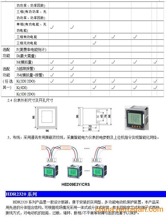 供应HED系列智能多功能电力仪表在某污水处理厂电机(MCC)基于低网络智能电力仪表及电动机保护器实现智能化监控系统方案