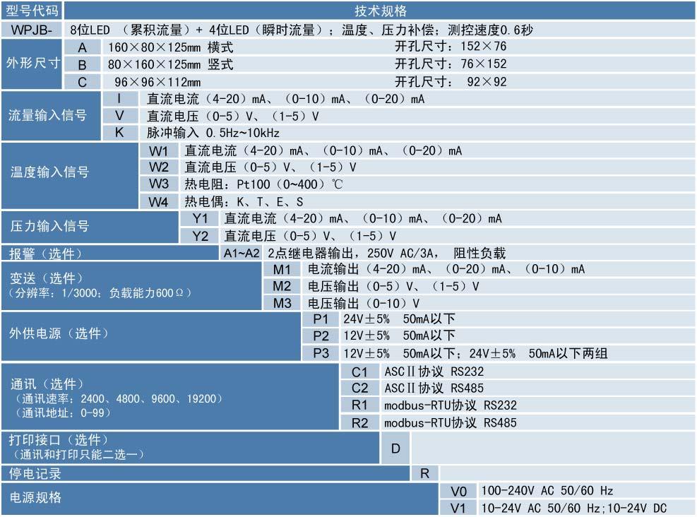 流量积算记录仪,迅鹏WPJB-B
